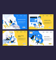online training landing page video tutorials vector image vector image