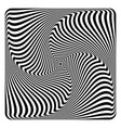 op art abstract design vector image vector image