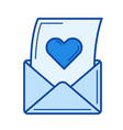 open love letter line icon vector image