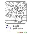 panda policeman coloring book animal alphabet p