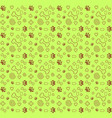 pattern dog lover yellowv ector vector image vector image