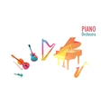Piano Orchestra Set of Music Instruments vector image vector image