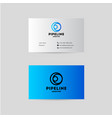 pipes logo and branding identity vector image vector image