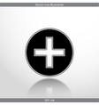 plus web flat icon vector image
