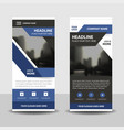 purple black business roll up banner flat design vector image vector image
