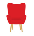 red chair vector image vector image