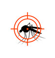 repellent mosquito stop aim sign icon malaria vector image vector image