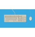 retro Keyboard and Mouse vector image