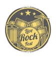 rock festival grunge logo design vector image vector image