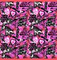 seamless brushpen textile doodle pattern grunge vector image vector image