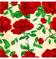 seamless texture red roses vector image vector image