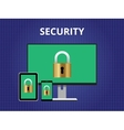 security attack concept cross platform device vector image vector image