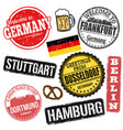 set grunge stamps with germany vector image