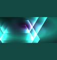shiny hexagon neon template futuristic digital vector image vector image