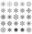 Snowflakes outline set vector image vector image