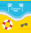 summer time holiday beach poster vector image vector image