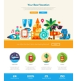 Summer vacation traveling website header banner vector image vector image