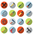 Tools colorful icon set vector image vector image