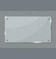 transparent glass plate hanging on wall vector image vector image
