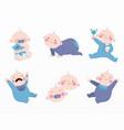 variety cute babies set vector image vector image