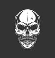 vintage skull with mustache vector image