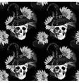 Watercolor halloween pattern vector image vector image