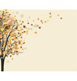 yellow autumn tree autumn background vector image vector image