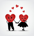 Two hearts in love vector image