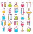 laboratory glass vials and chemical tests vector image