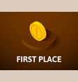 first place isometric icon isolated on color vector image