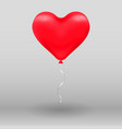 3d realistic helium heart red balloon holiday vector image vector image