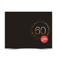 60 years anniversary decorated card template vector image