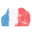 abstract flag sketch of france vector image vector image