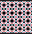 abstract floral seamless pattern geometric asian vector image vector image