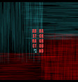 abstract grunge pattern blue and red scratch vector image