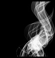 abstract smoke isolated on black background vector image vector image