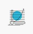 arrow chart curve experience goal line icon vector image vector image