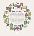 back to school concept in circle vector image