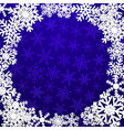 background with frame snowflakes vector image vector image