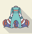 backpack and inline roller skates flat vector image