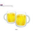 beer one of the mostpopular drink in netherlands vector image