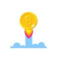 bitcoin growth start vector image vector image