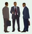 black men talking vector image vector image