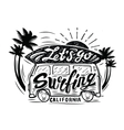 black surfing badge vector image
