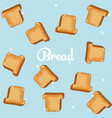 breads pattern background vector image