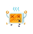 Broken Little Robot Character vector image