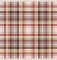 brown plaid pixel fabric texture seamless pattern vector image vector image