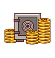 business money safe box currency coins vector image vector image