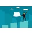 Businessman achieved success vector image vector image
