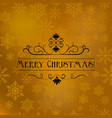 christmas and new year typographical background vector image vector image